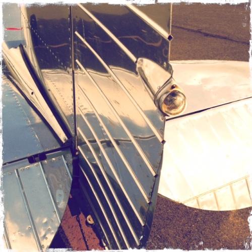 Shiny plane tail